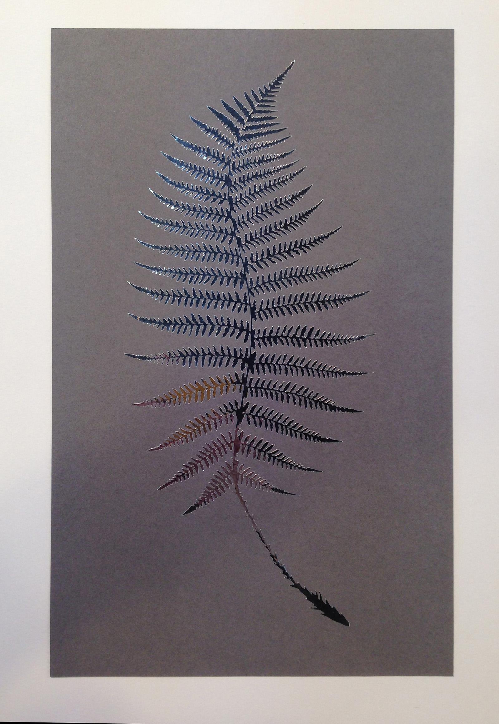 """Fractal #4"", 2014, vinyl on paper, 8 in. x 13 in."